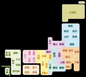 ディフェンセラ販売店舗の日本地図